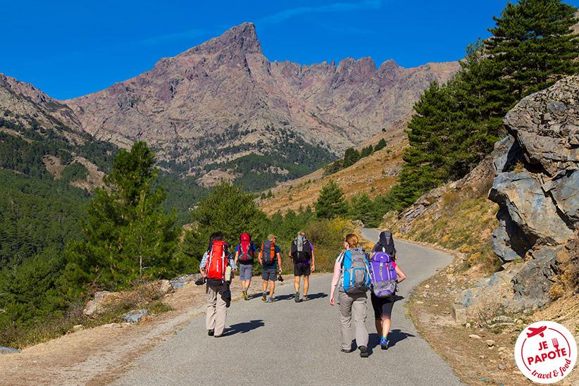 Départ randonnée Corse