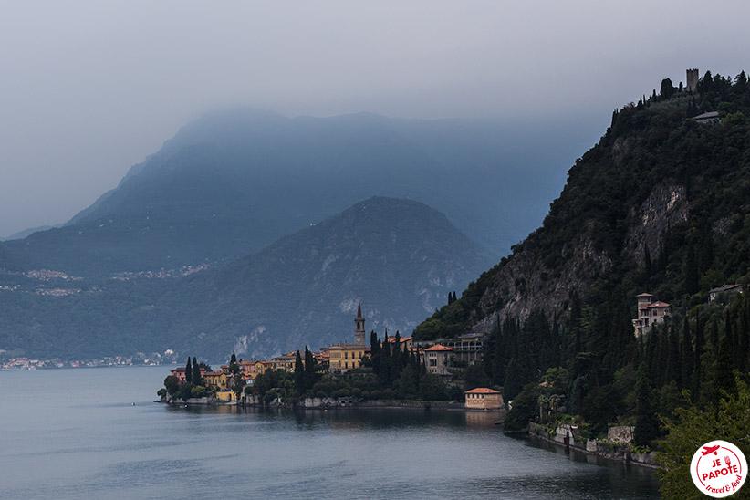 Paysage Italie du nord en train