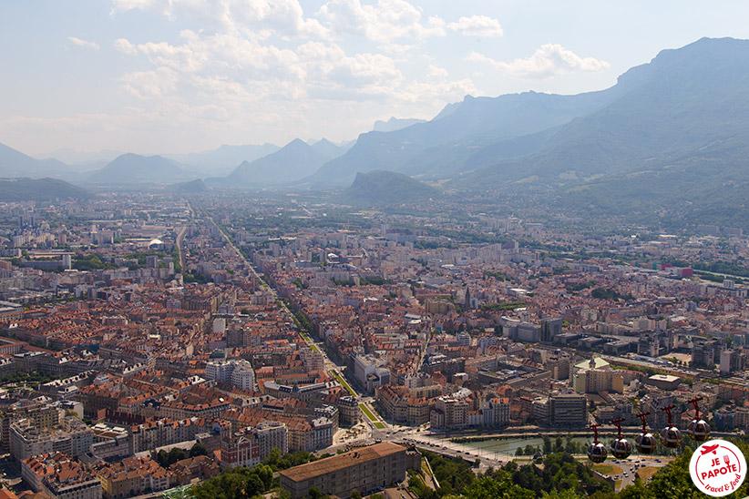 Vue depuis la Bastille, Grenoble