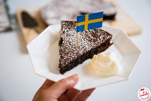 Kladdkaka: Fondant au chocolat suèdois