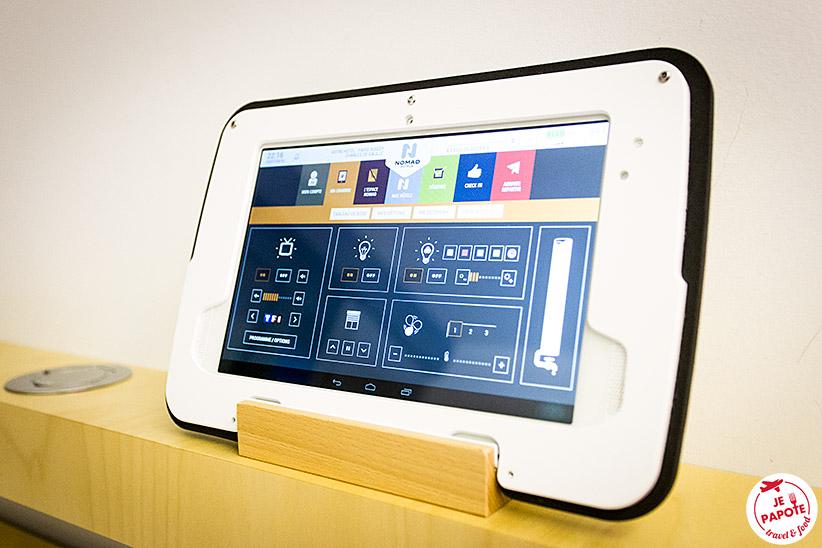 tablette hôtel nomad