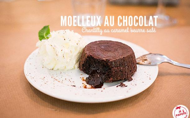 Moelleux au chocolat et chantilly au caramel beurre salé