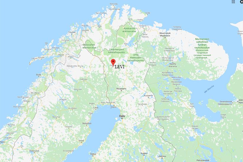 Carte Levi Finlande