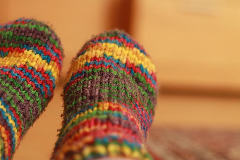 chaussette laine laponie