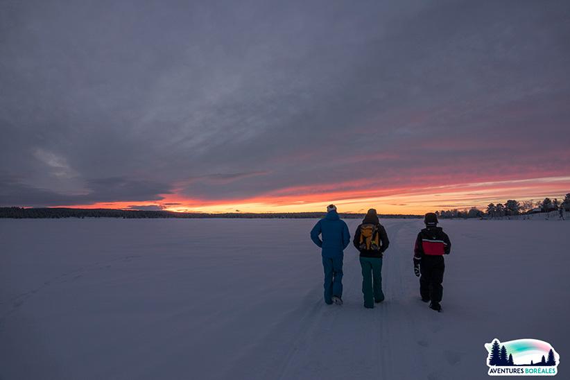 Marcher sur un lac gelé