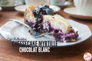 Cheesecake chocolat blanc et myrtille