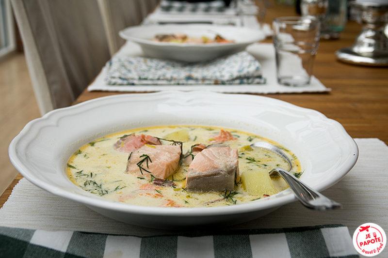 soupe de saumon finlandaise