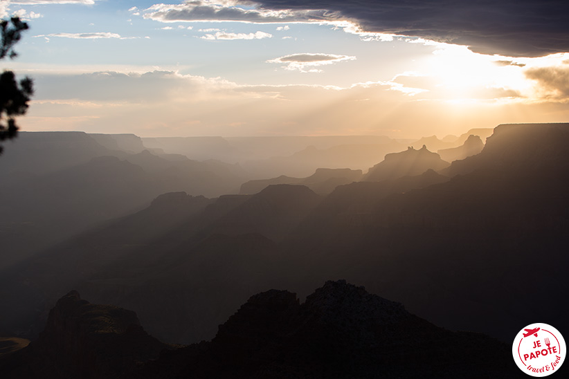 Coucher de soleil à Grand Canyon