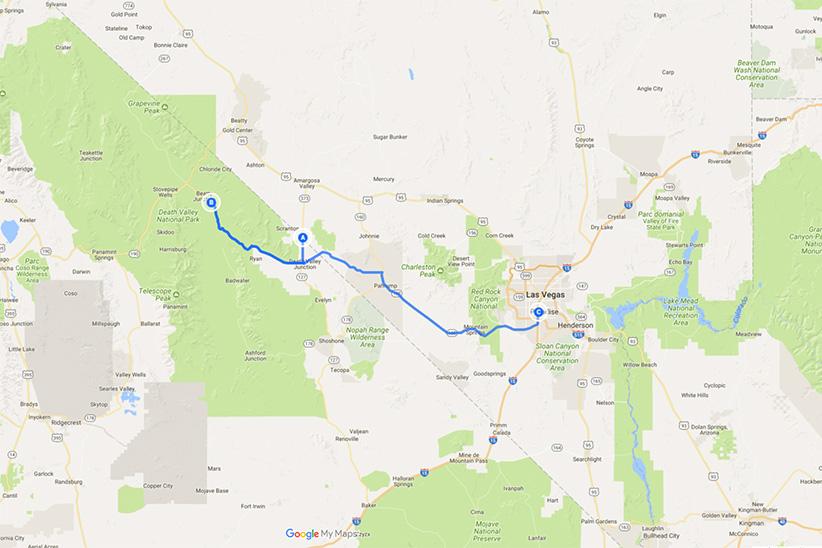 Vallée de la Mort à Las Vegas