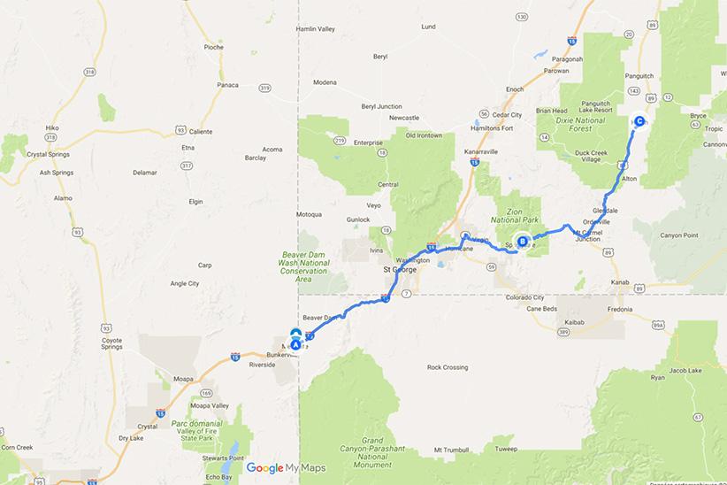 Zion à Bryce Canyon