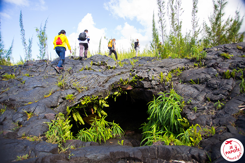 visite tunnel de lave