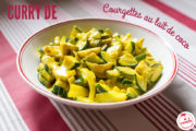 Curry de courgettes au lait de coco
