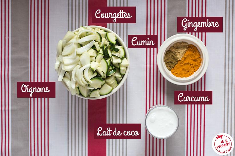 recette Curry de courgettes au lait de coco