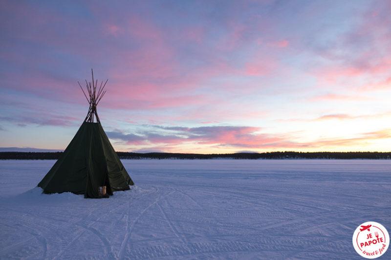 Ciel décembre Laponie