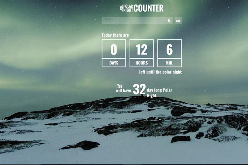 Durée nuit polaire