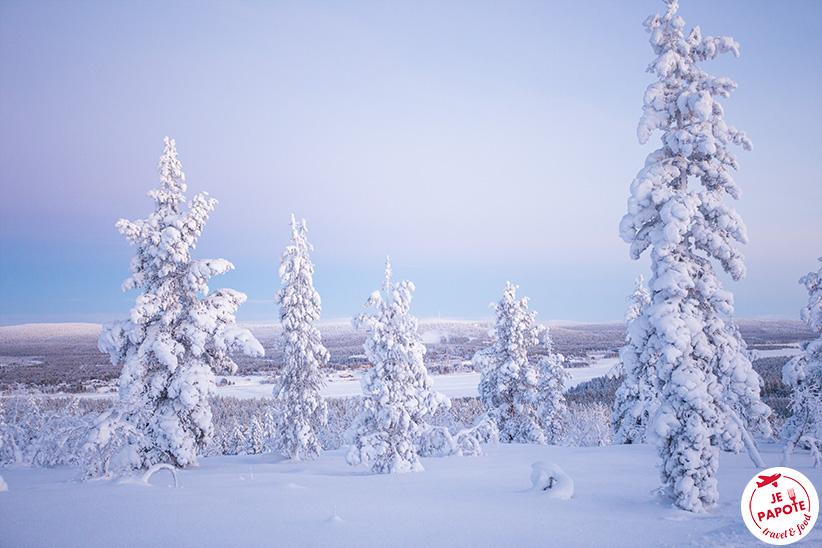 paysage laponie finlandaise