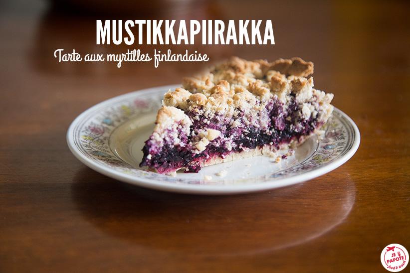 Tarte aux myrtilles finlandaise (Mustikkapiirakka)
