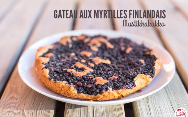 Gateau aux myrtilles finlandais (Mustikkakukko)