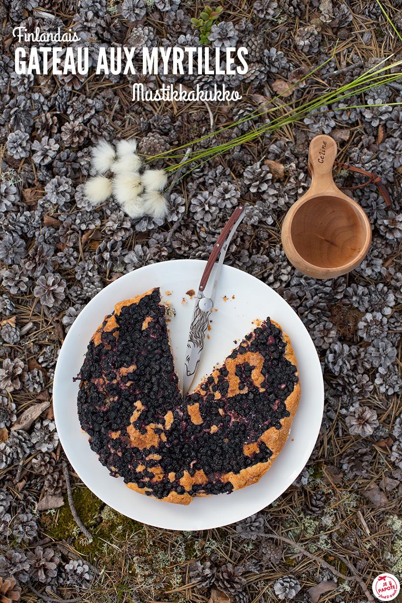 gateau aux myrtilles mustikkakukko