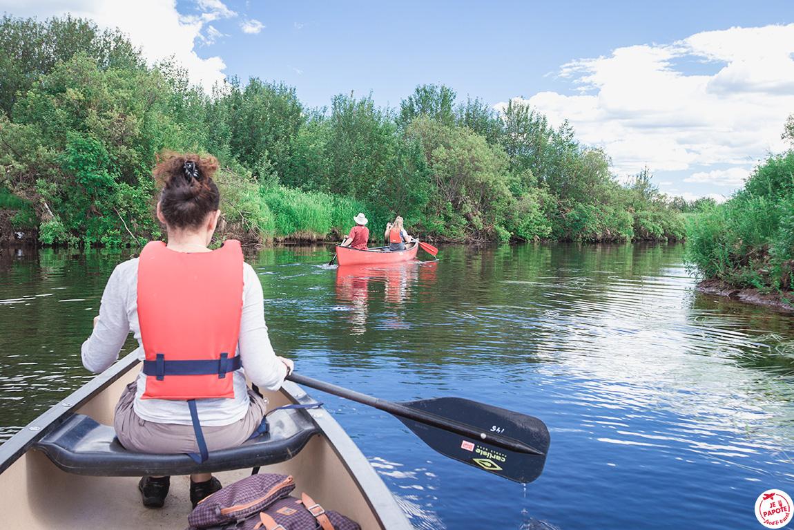 canoe Laponie
