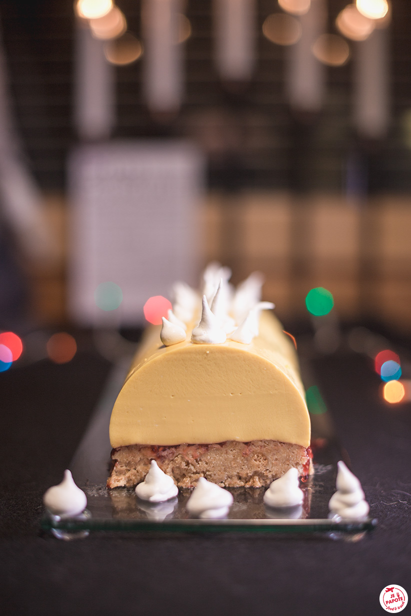 buche noel facon cheesecake