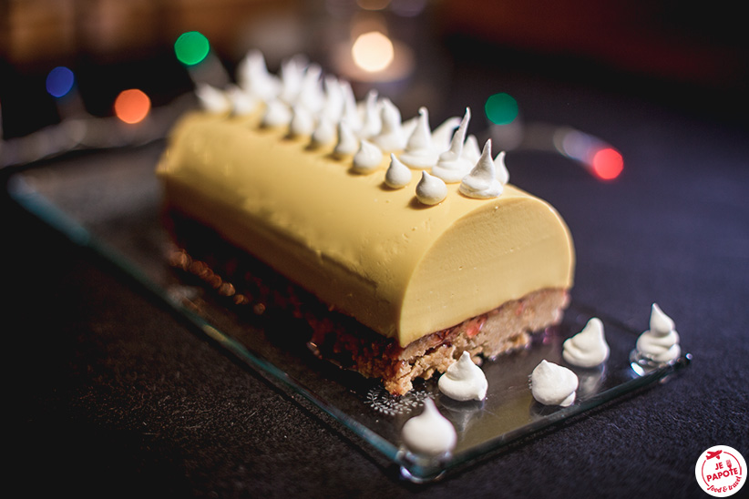 buche noel mangue cheesecake