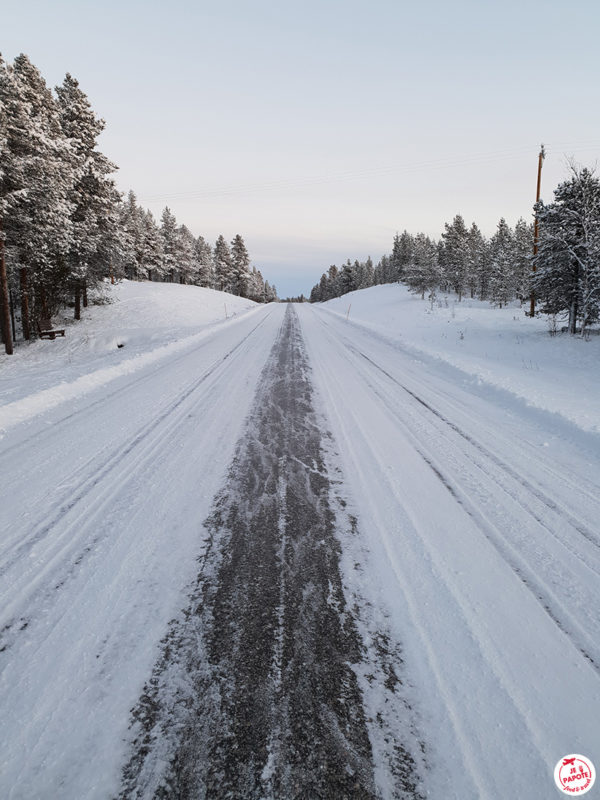route hiver laponie