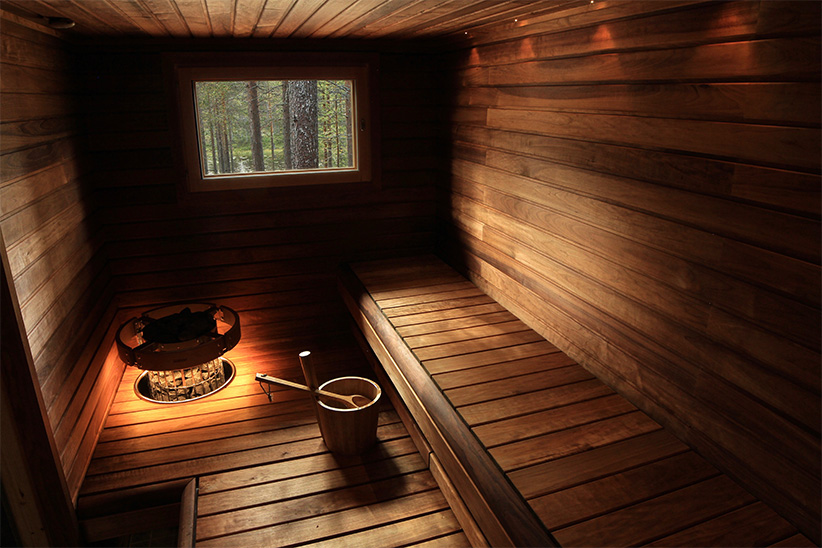sauna traditionnel laponie