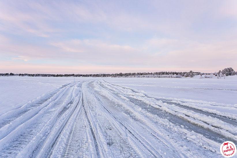 glace lac laponie