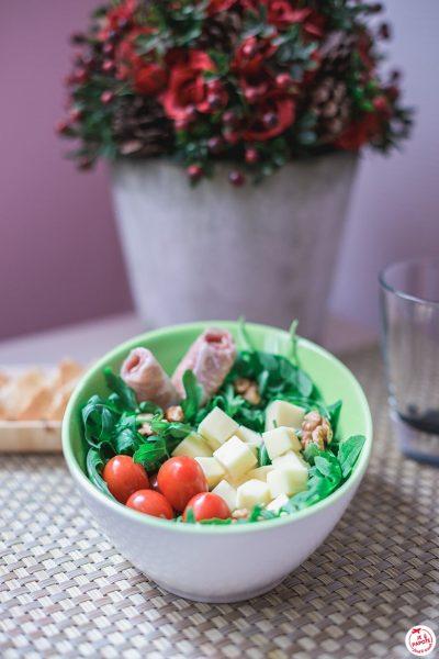 Salade composée et tomme de Savoie