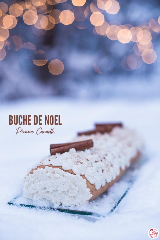 buche noel pomme cannelle 2019