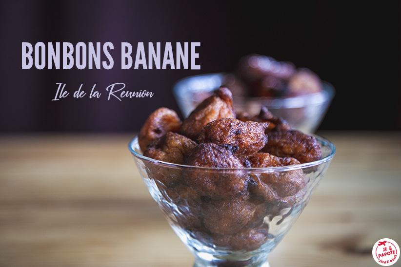Bonbons banane (beignets de banane de La Réunion)