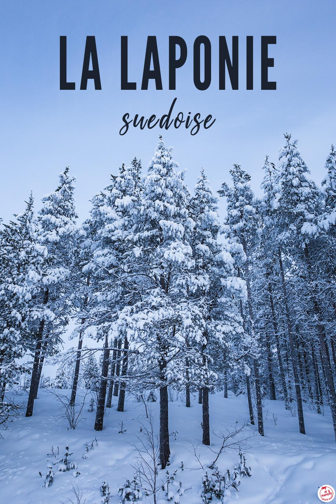 sapins enneigés en Laponie suédoise