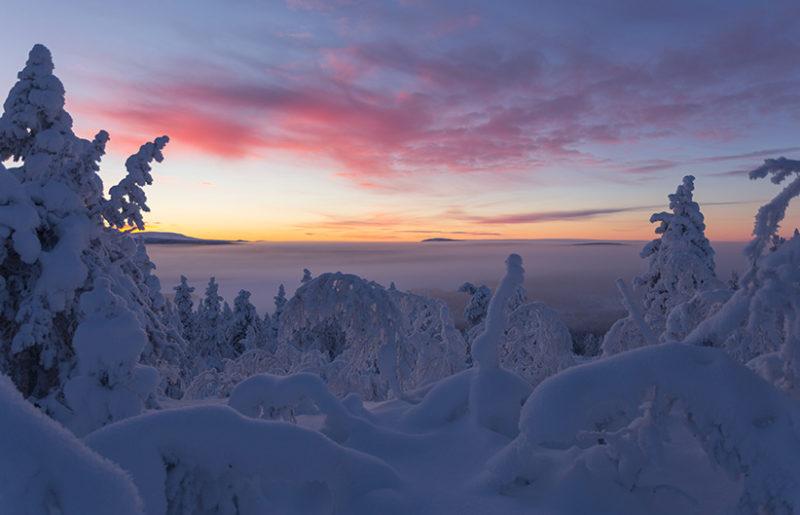nuit polaire en laponie